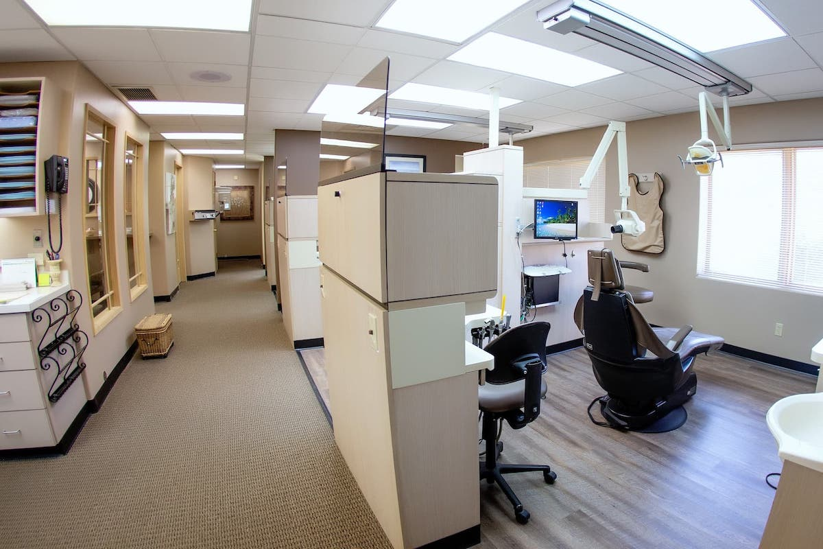 dental chair and separate rooms at johnson dental